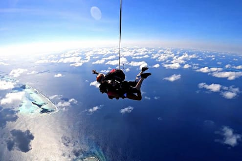 Skydive into the Tropics at Niyama Private Islands