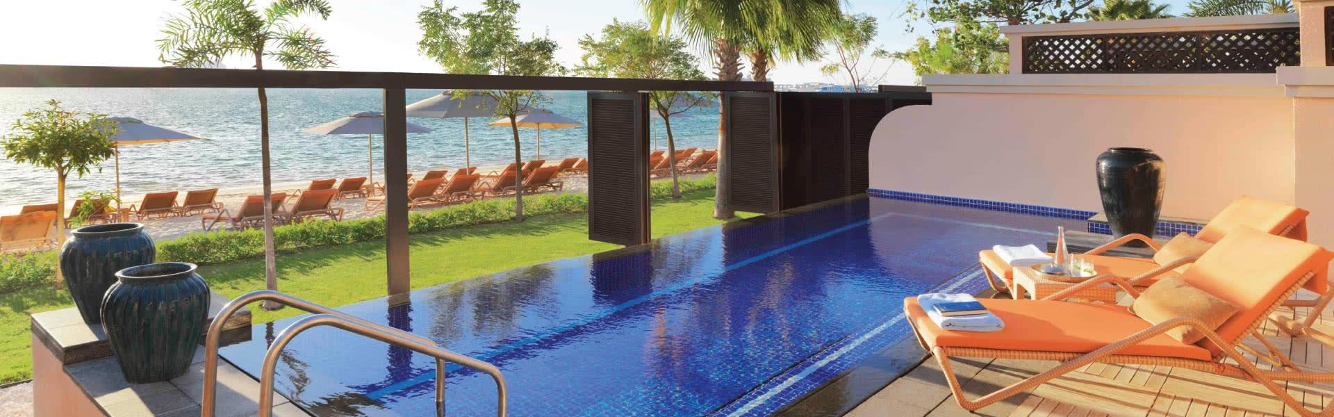 Dubai Beach Villas Beach Pool Villa Anantara The Palm