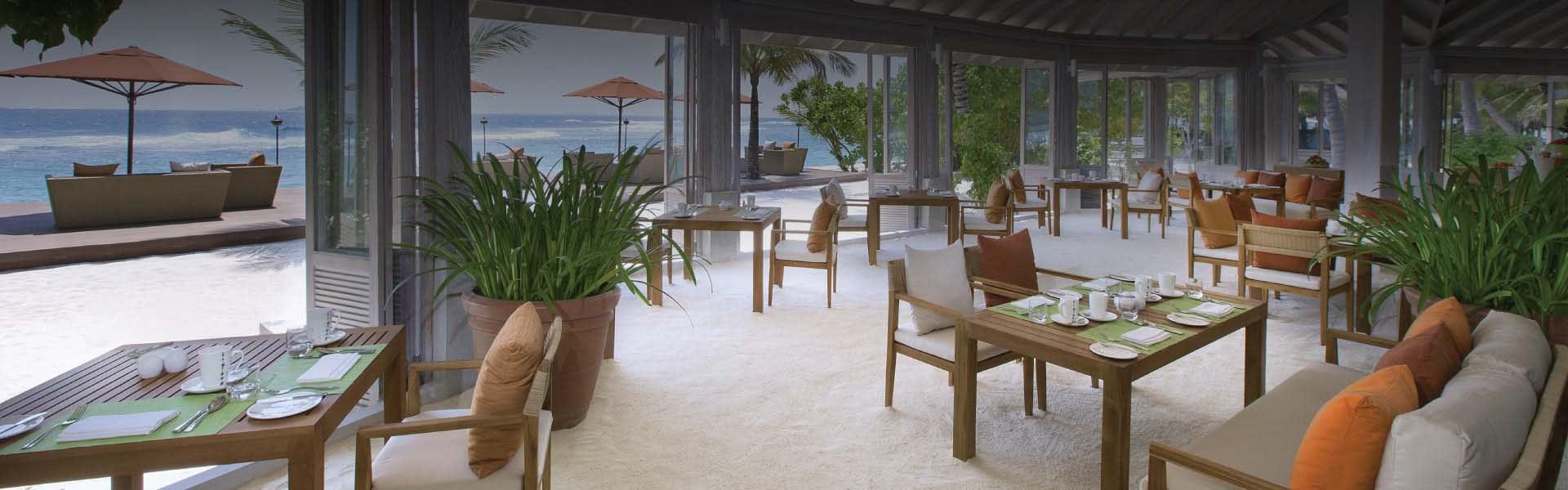 73 Degrees Restaurant at Anantara Veli Resort