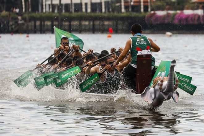 Thailand's Three Day Royal Charity Event  The King's Cup Elephant Boat Race Kicks Off in Bangkok