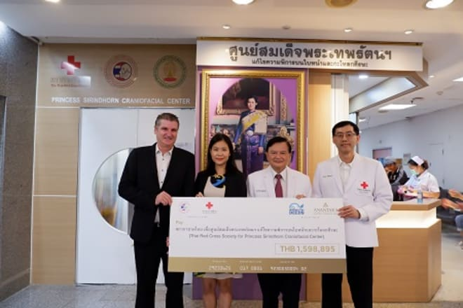 Anantara Donates Over THB 1.5 Million to the Princess Sirindhorn Craniofacial Center at Chulalongkorn Hospital