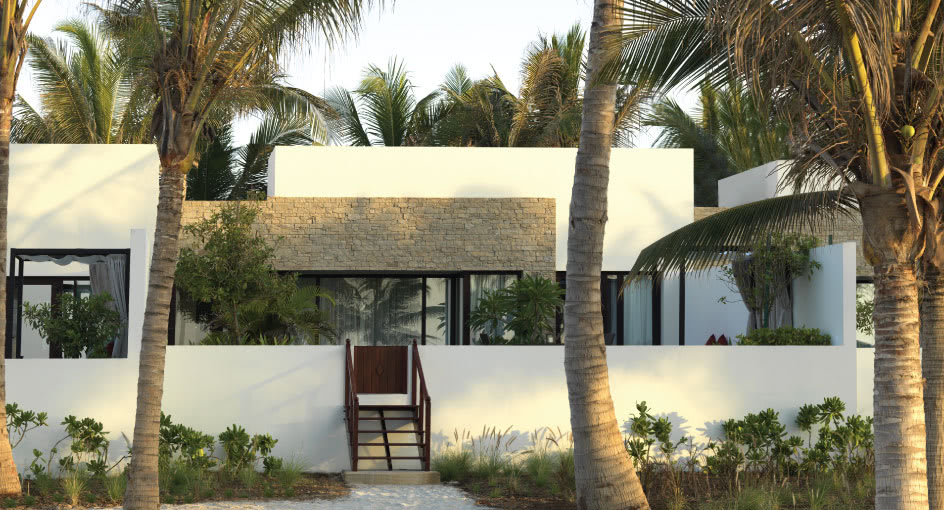 Outdoor Terrace of One Bedroom Lagoon View Villa at Anantara Oman