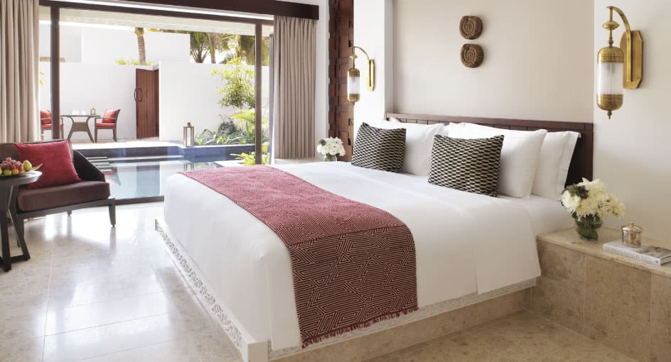 Comfortable Bed with Private Pool at Garden View Villa with Private Pool