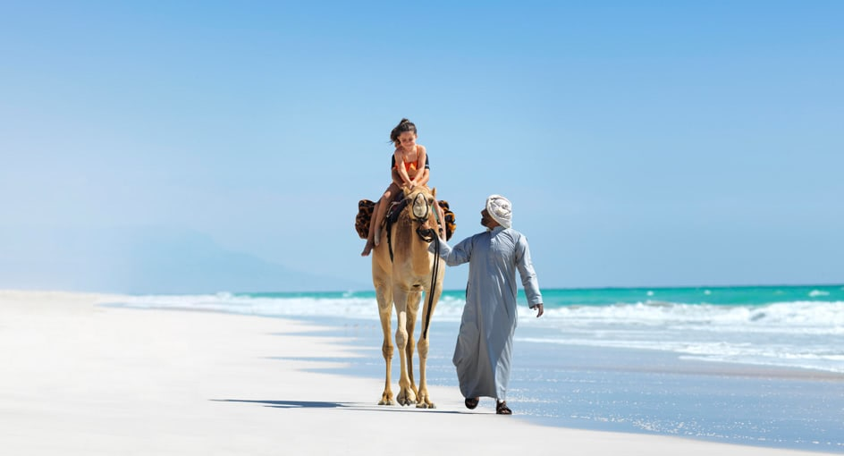 Camel Rides for Kids in Oman with Anantara Salalah Resort