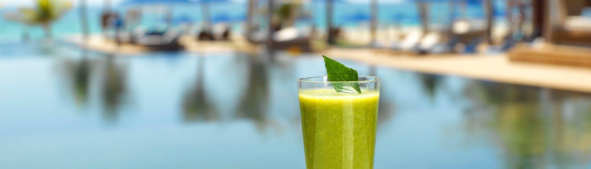 Drinks by the Pool at Al Baleed Resort Salalah