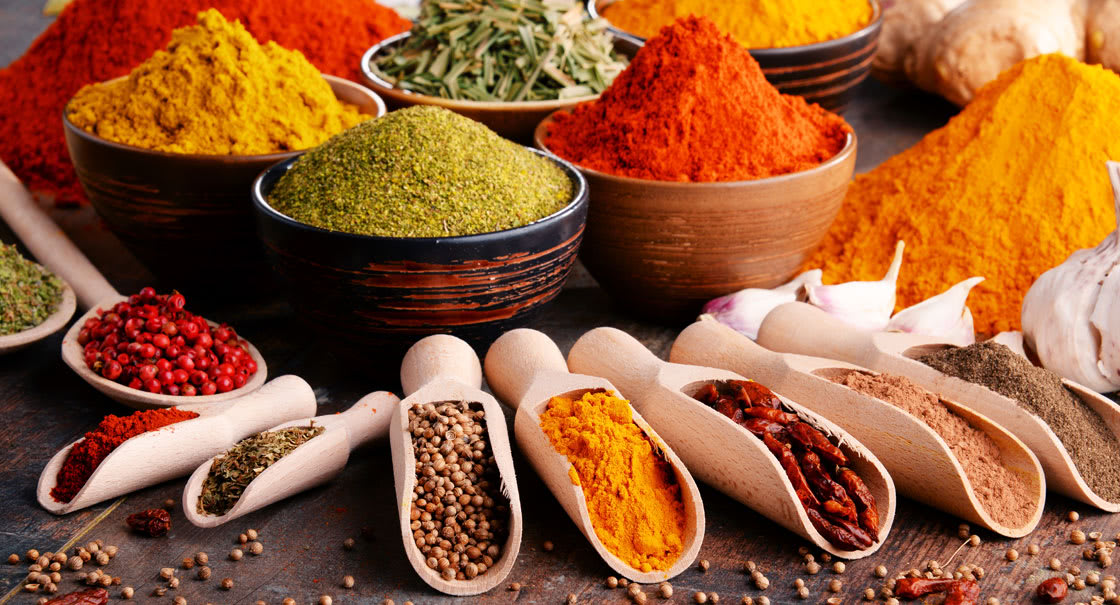 Wide range of Spices at Spice Spoons Restaurant