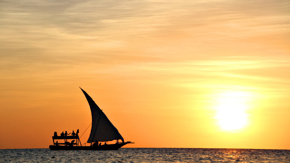 Boat Trips on Salalah Ocean During the Magnificent Sunset in Oman