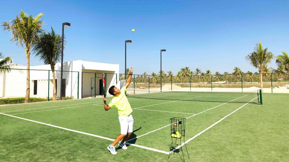 Tennis Playing Activities in Oman with Al Baleed Resort Salalah