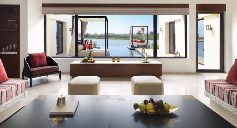 Luxury Living Room Overlooking the Salalah Ocean at Anantara Oman