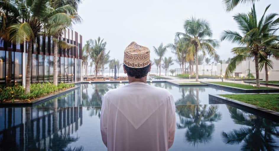Oman Resident Overlooking the Pool at Al Baleed Resort Salalah