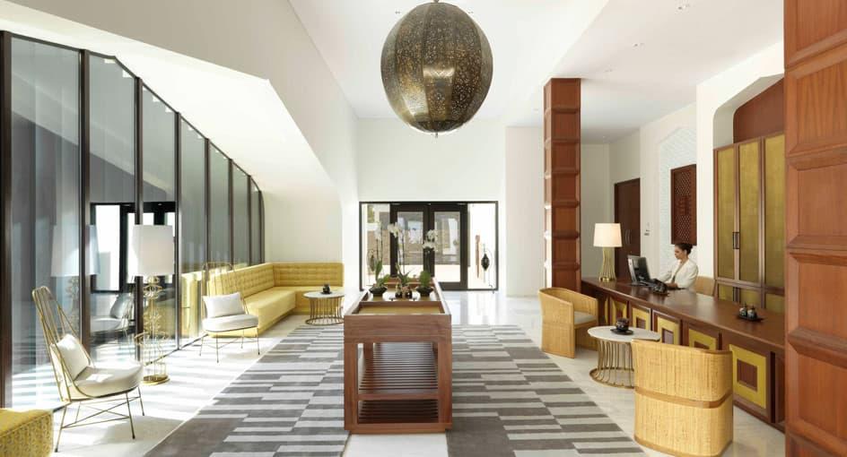 Luxury Reception Area at Anantara Oman Spa