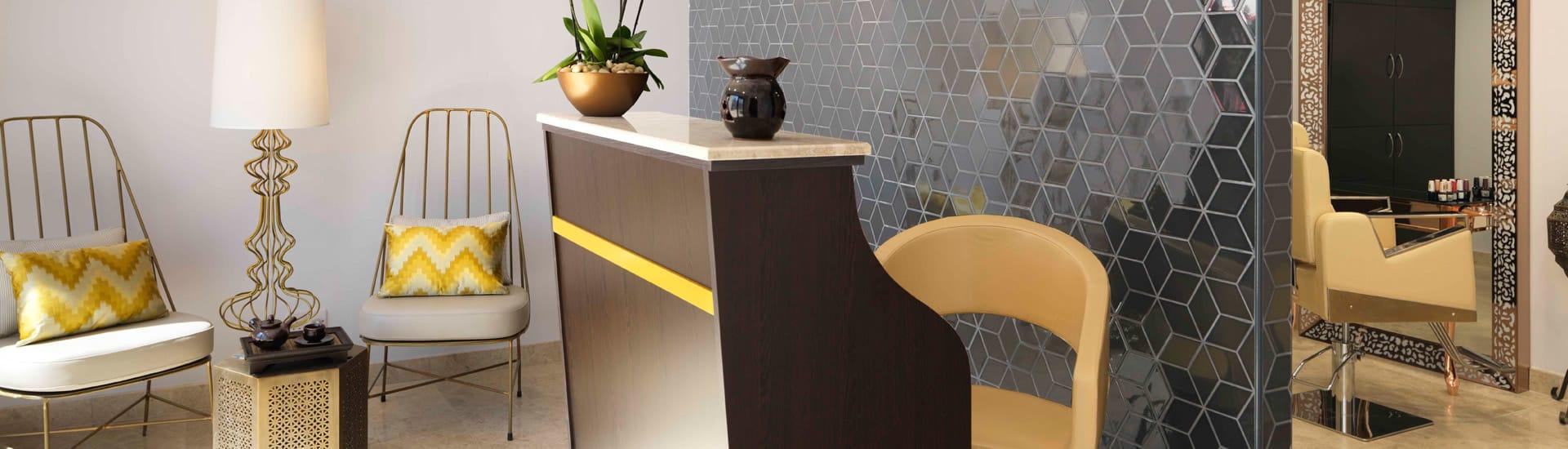 Salon Reception Area at Al Baleed Resort Salalah by Anantara Spa