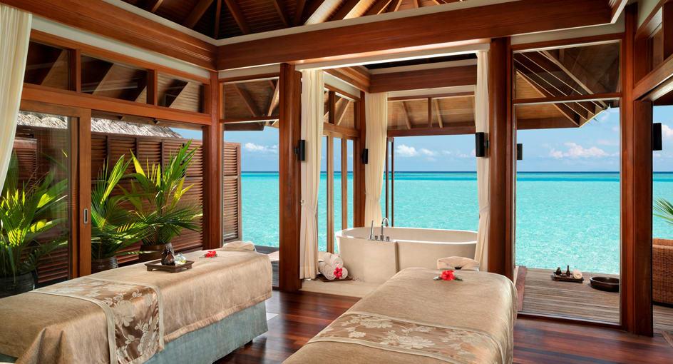 Anantara Dhigu Maldives Over Water Spa Treatment Room