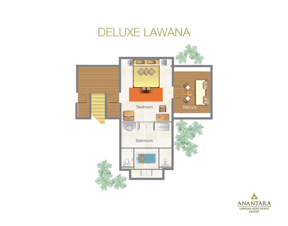Chaweng Hotel Deluxe Lawana Room At Anantara Lawana Samui