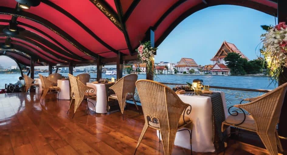 Bangkok River Cruise Dining Manohra Cruises With Anantara