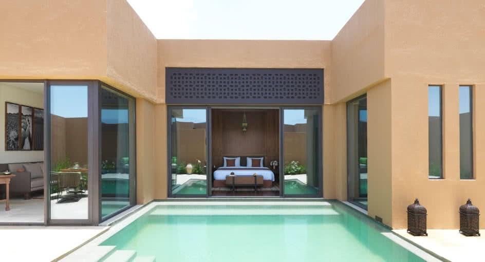 Exterior View of One Bedroom Garden Villas at Al Jabal Al Akhdar Resort