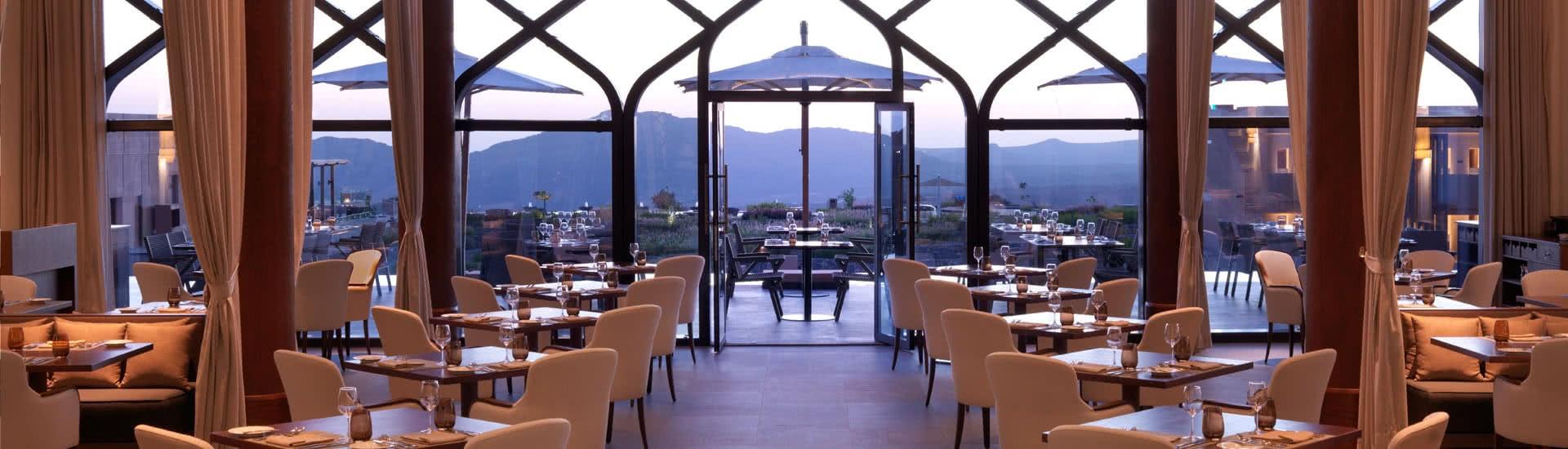Luxury Dining Setup of Al Maisan Restaurant in Oman