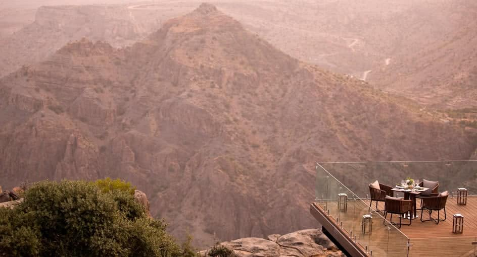Dining by Design Overlooking the Oman Canyons