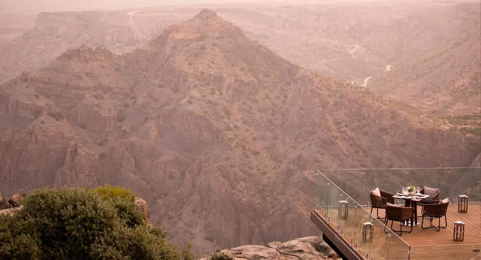 Dining by Design Overlooking the Green Mountains in Oman