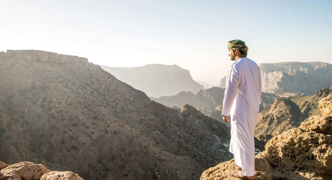 Mountain Hike Experience on Top of Green Mountains in Oman