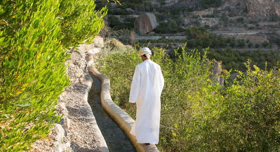 Walking Path to the Village near Anantara Jabal Resort