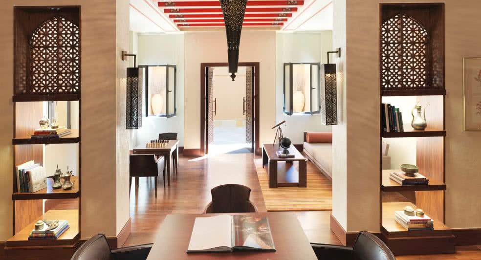 Library Facilities of Anantara Jabal Resort in Oman