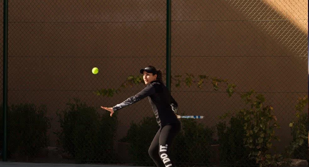 Tennis Playing Facilities at Anantara Jabal Resort Oman