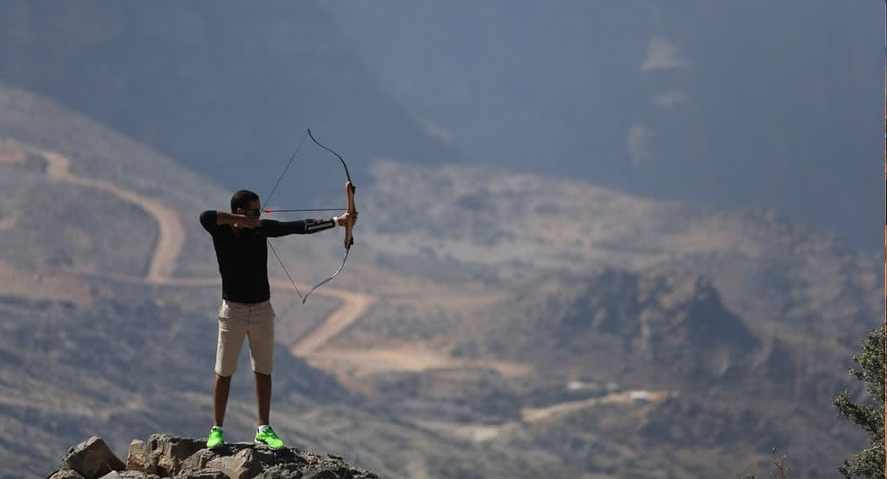 Archery Experience on Top of Green Mountains in Nizwa Oman
