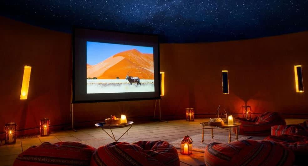 Cinema Under the Stars with Bean Bags in Nizwa Oman