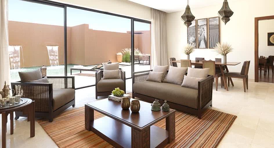 Spacious Living Room with Comfortable Sofas at Al Jabal Al Akhdar Resort