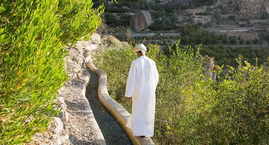Village Culture Walk Path in Nizwa Oman