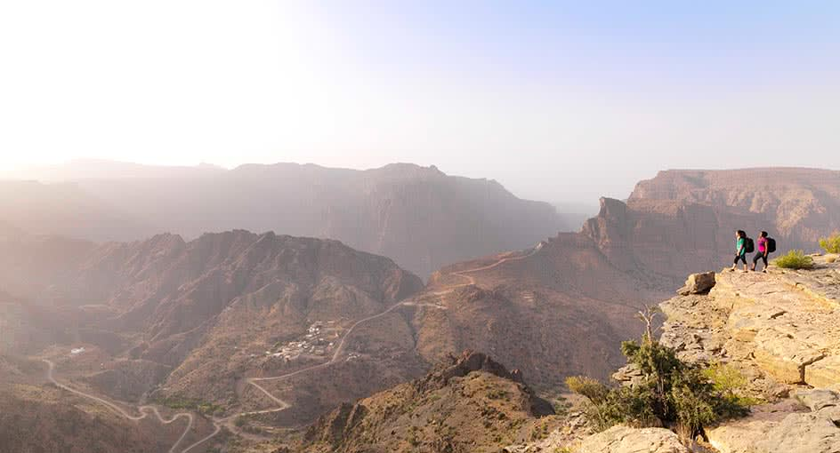 Mountain Hiking Experience in Oman During Sunrise