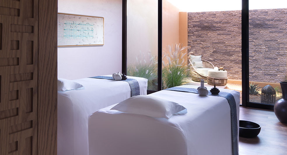 Couple Abdominal Massage Therapy Room at Al Jabal Al Akhdar Resort