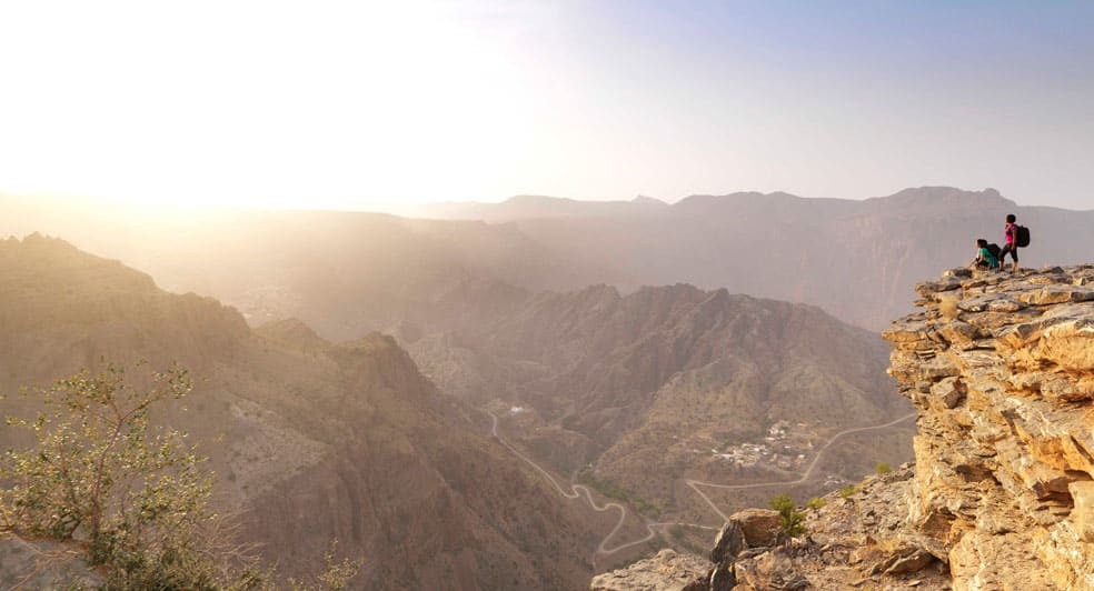Adventure Hiking Experience During Sunrise in Oman