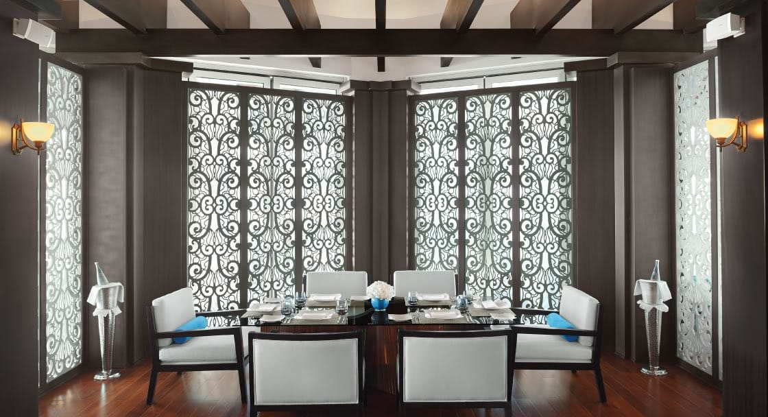 Private Dining Area at Banana Island Resort Doha