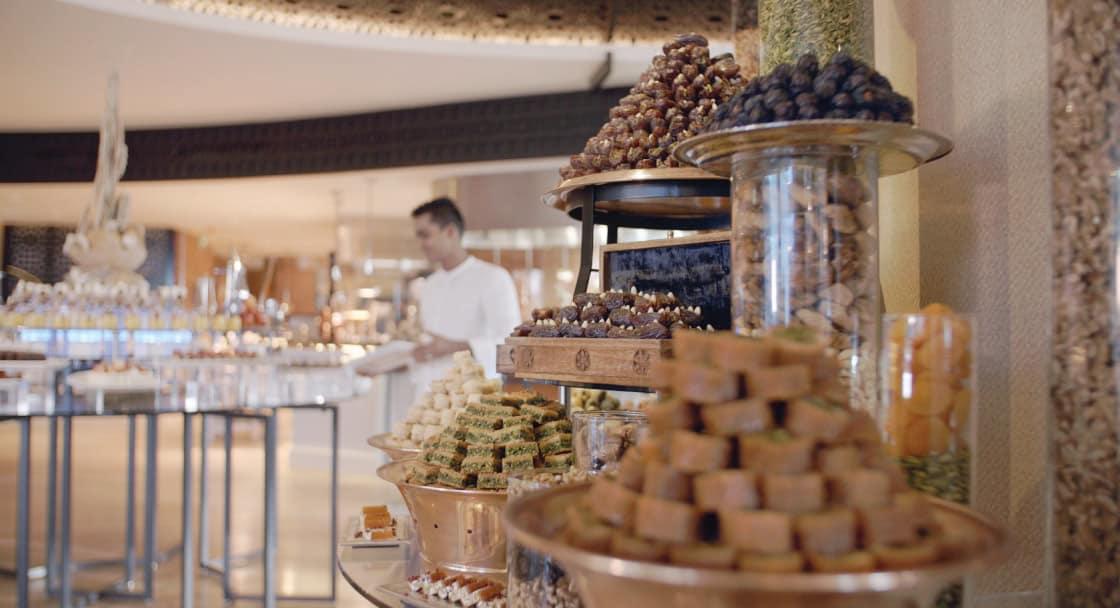 Azraq Buffet Setup at Banana Island Resort Doha