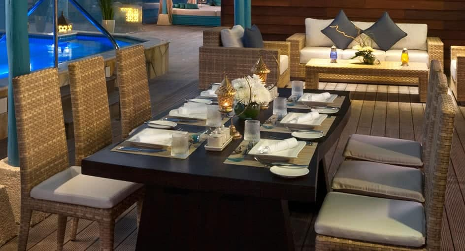 Dining Setup Table at Banana Island Resort Doha
