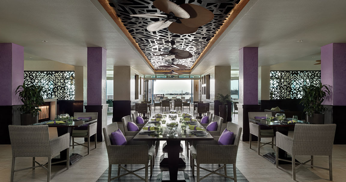 Q Lounge Doha Restaurant Dining Setup