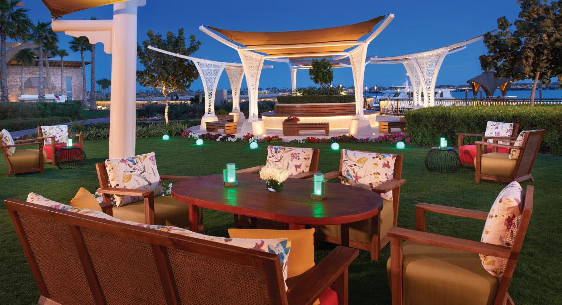 Outdoor Dining Setup in Doha