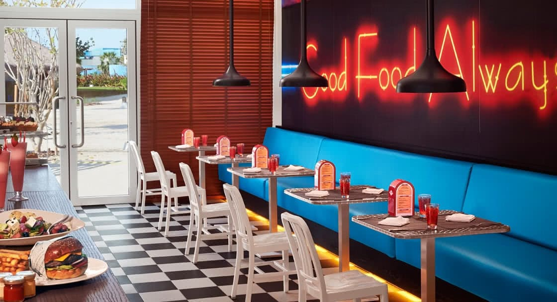 Dining Setup of Ted's Restaurant in Doha