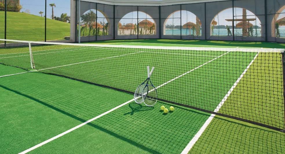 Tennis Court of Banana Island Resort Doha