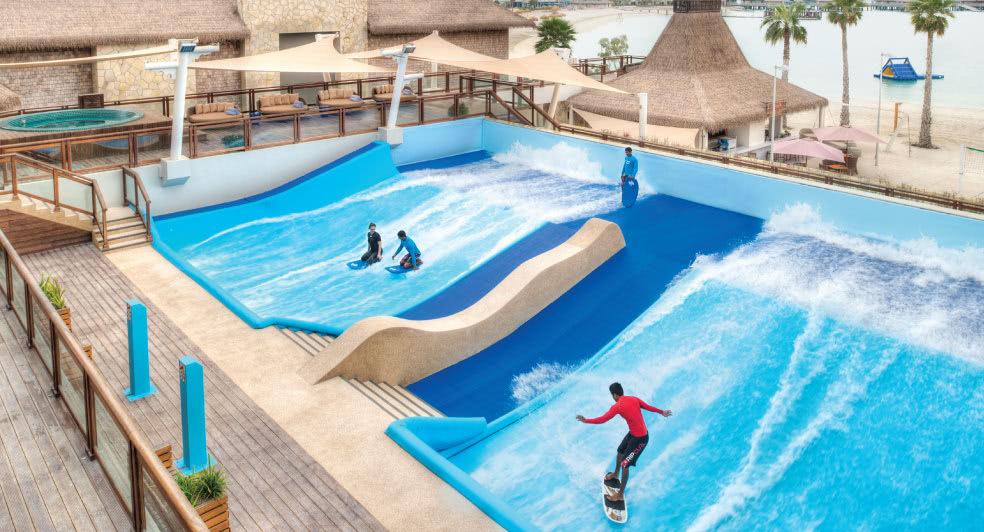 Surf Pool at Banana Island Resort Doha