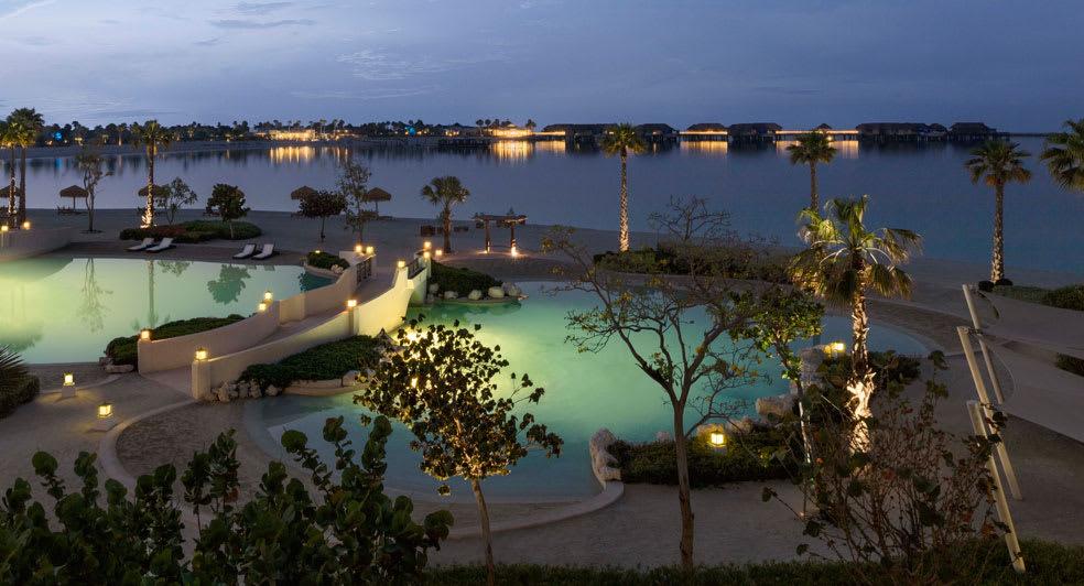 Banana Island Resort Doha Swimming Pool Night View