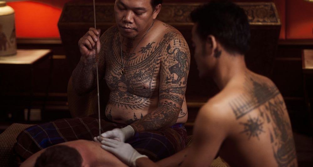 Thailand Bamboo Tattoo with Sak Yant masters