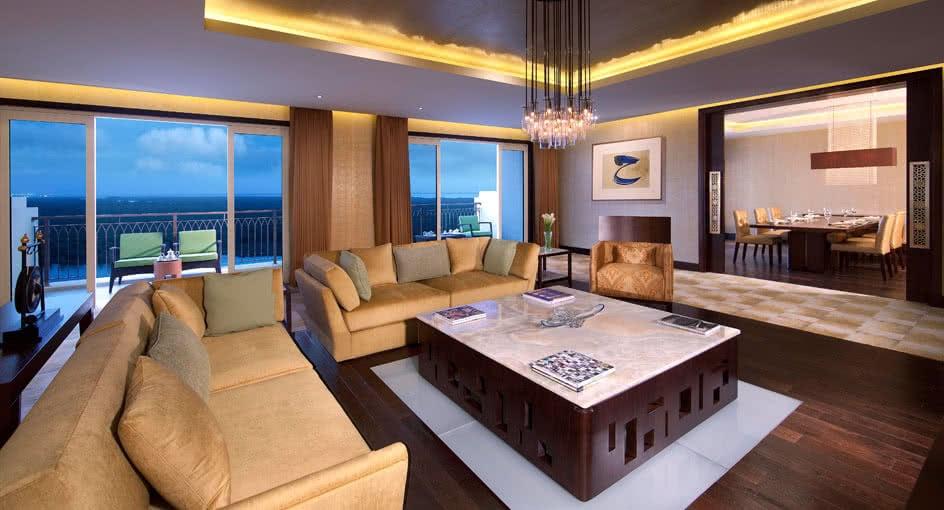 Spacious Living Room of Royal Mangroves Suite at Eastern Mangroves Hotel Abu Dhabi