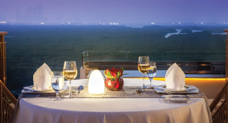 Dining with Views of the Mangroves Setting in Abu Dhabi