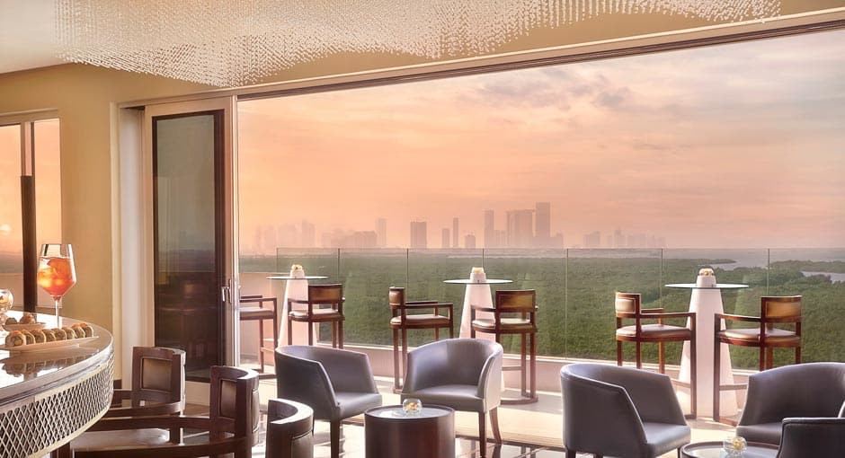 Mangroves View from Impressions Arabic Restaurant in Abu Dhabi