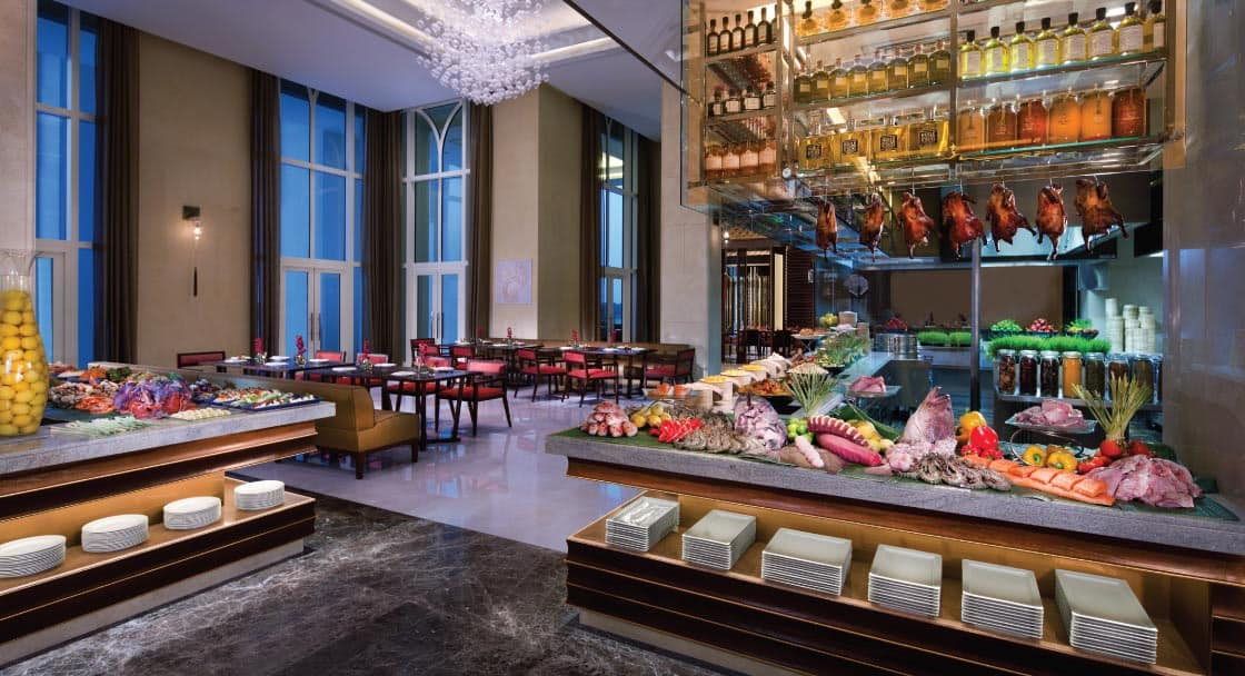 Buffet at Ingredients Top Restaurant Abu Dhabi
