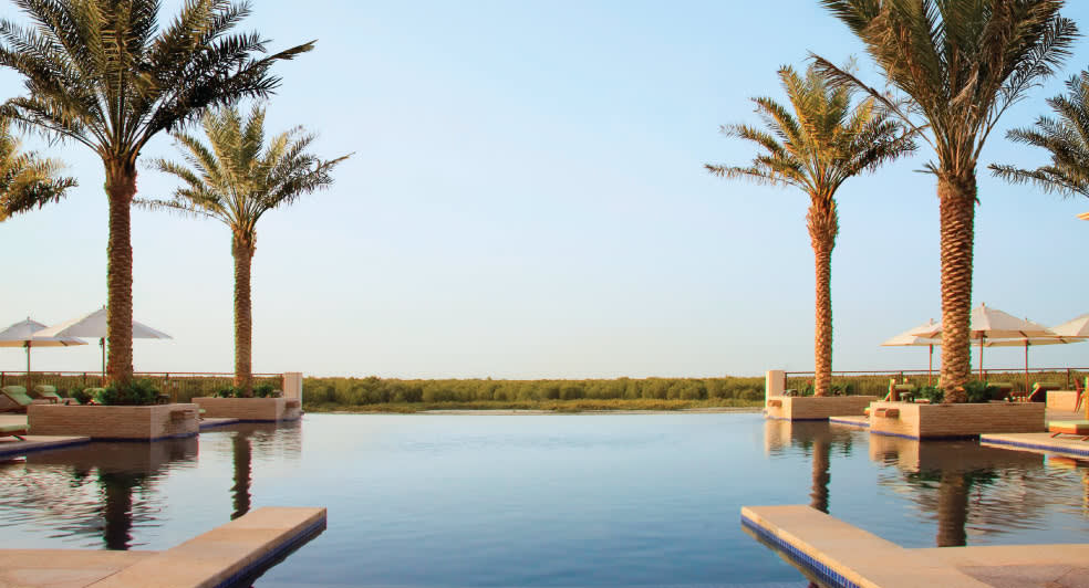 Infinity Pool Overlooking the Mangroves in Abu Dhabi