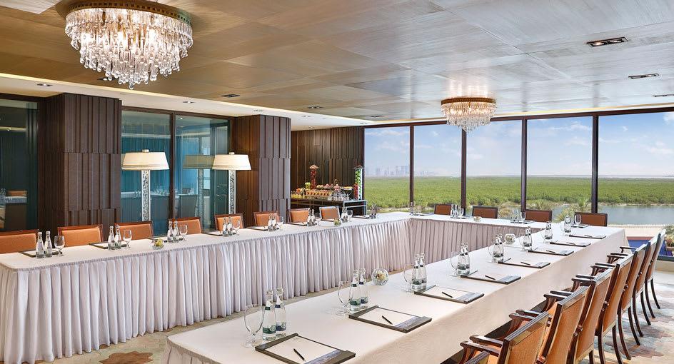 Meeting Setup Overlooking the Mangroves in Abu Dhabi